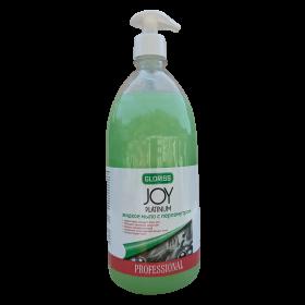 JOY PLATINUM Жидкое мыло с перламутром 1л (ззеленое)