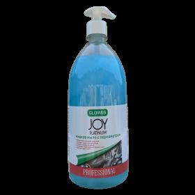 JOY PLATINUM Жидкое мыло с перламутром 1л (голубое)