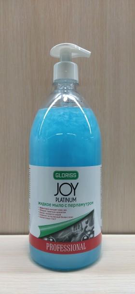 JOY PLATINUM Жидкое мыло с перламутром голубое 1л