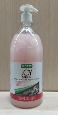 JOY PLATINUM Жидкое мыло с перламутром розовое 1л