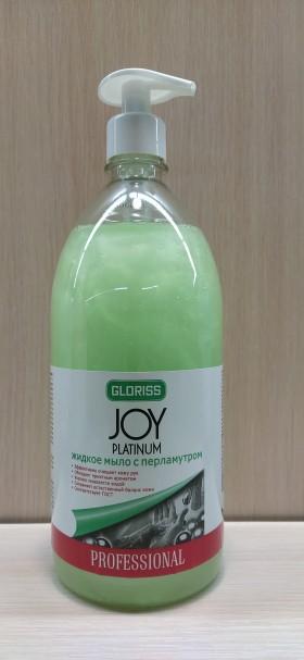 JOY PLATINUM Жидкое мыло с перламутром зеленое 1л