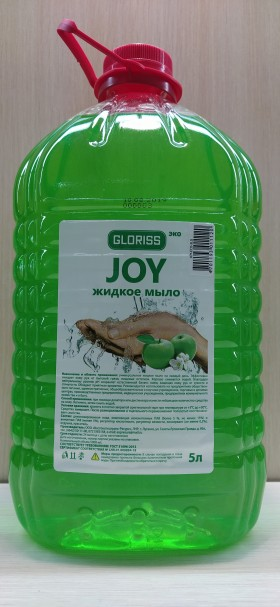 JOY эко жидкое мыло зеленое яблоко 5л
