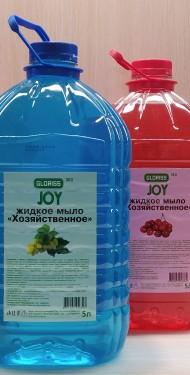JOY эко жидкое мыло хозяйственное виноград 5л