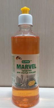 MARVEL эко средство для мытья посуды апельсин 0,5л
