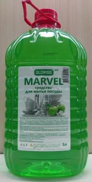 MARVEL эко средство для мытья посуды зеленое яблоко 5л