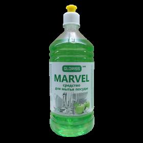 MARVEL эко средство для мытья посуды 1л (яблоко)