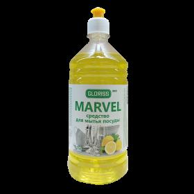MARVEL эко средство для мытья посуды 1л (лимон)