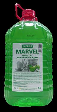 MARVEL эко средство для мытья посуды 5л (яблоко)