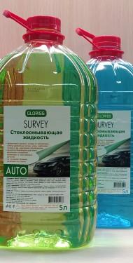 SURVEY Стеклоомывающая жидкость 5л (красная, синяя, зелёная)